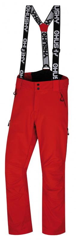 Pánske lyžiarske nohavice Husky GALT M červená