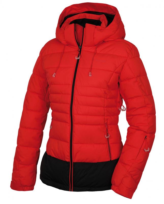 Dámska bunda Husky Nerel L jemne červená S