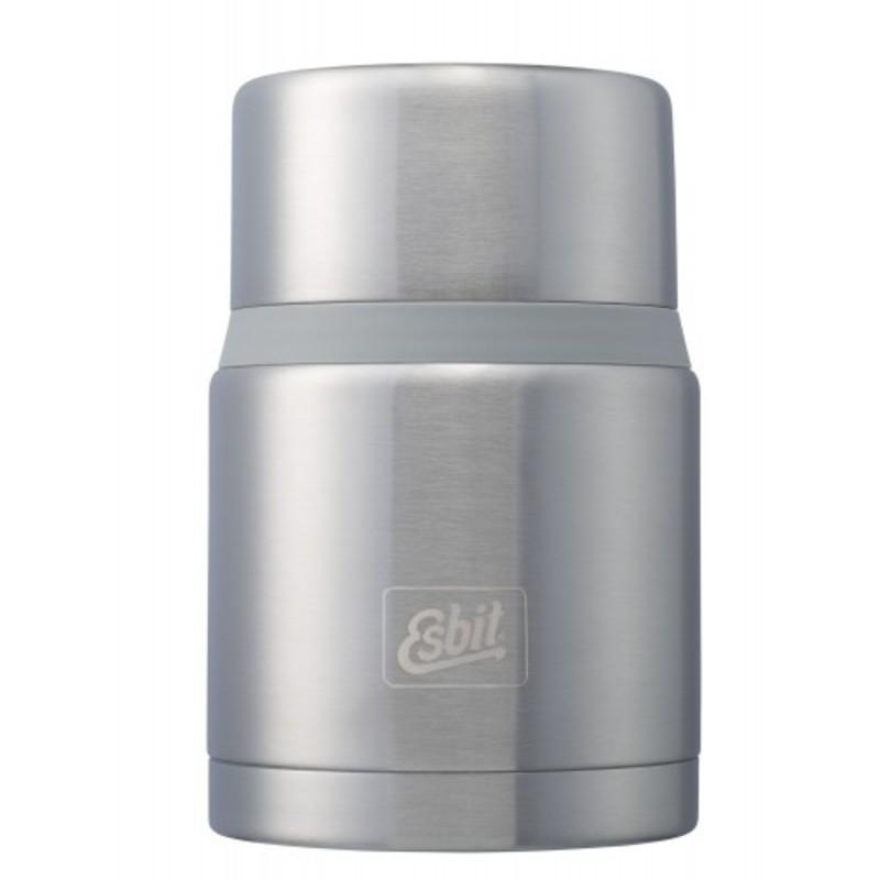 Vákuová termoska na jedlo z nerez ocele Esbit Lux s lyžičkou 0,75 l Grey FJ750SP-BS