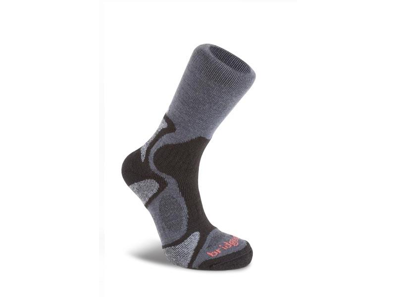 Ponožky Bridgedale CoolFusion TrailBlaze 863 gunmetal / black 9,5-12