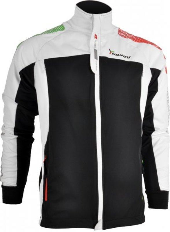 Pánska softshellová bunda Silvini Rocca MJ416 black-white M