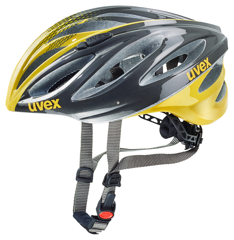 Helma Uvex Boss Race - Anthracite Yellow