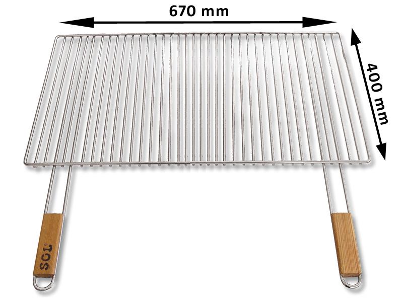 Grilovaci rošt SOL krbový 5x67x40 cm - 70.4067MBT