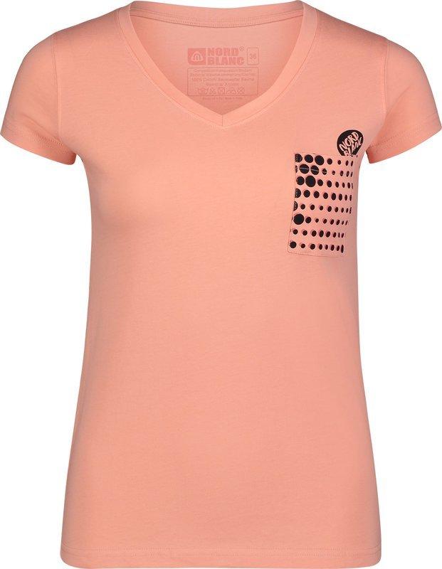 Dámske bavlnené tričko NORDBLANC Furtive NBSLT6729_ZAO 36