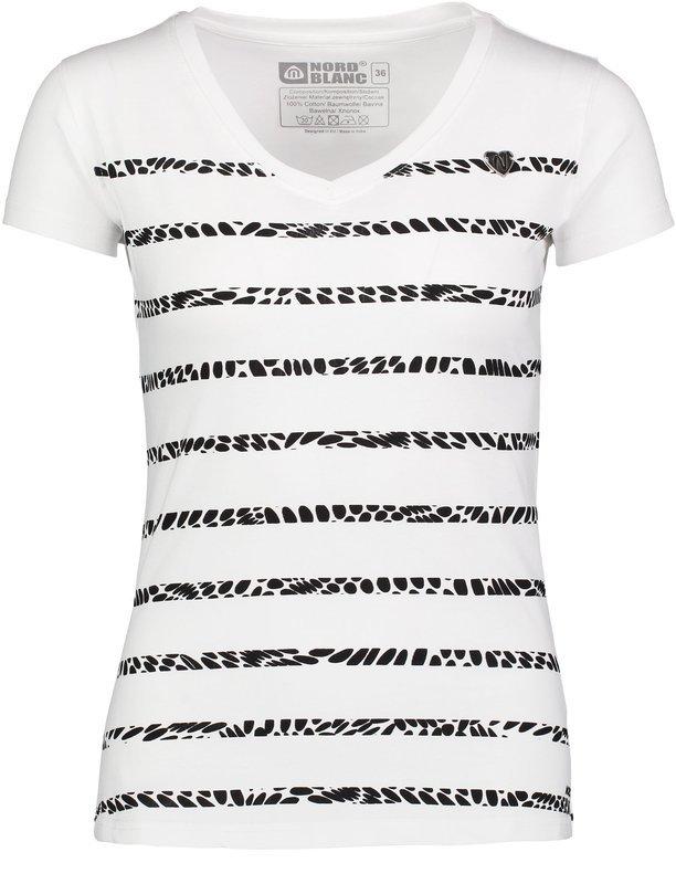 Dámske bavlnené tričko NORDBLANC Sort NBSLT6731_BLA 36