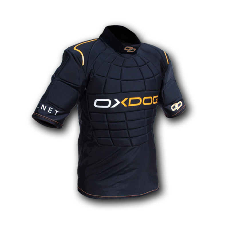 Brankárska vesta Oxdog BLOCKER GOALIE VEST black - orange
