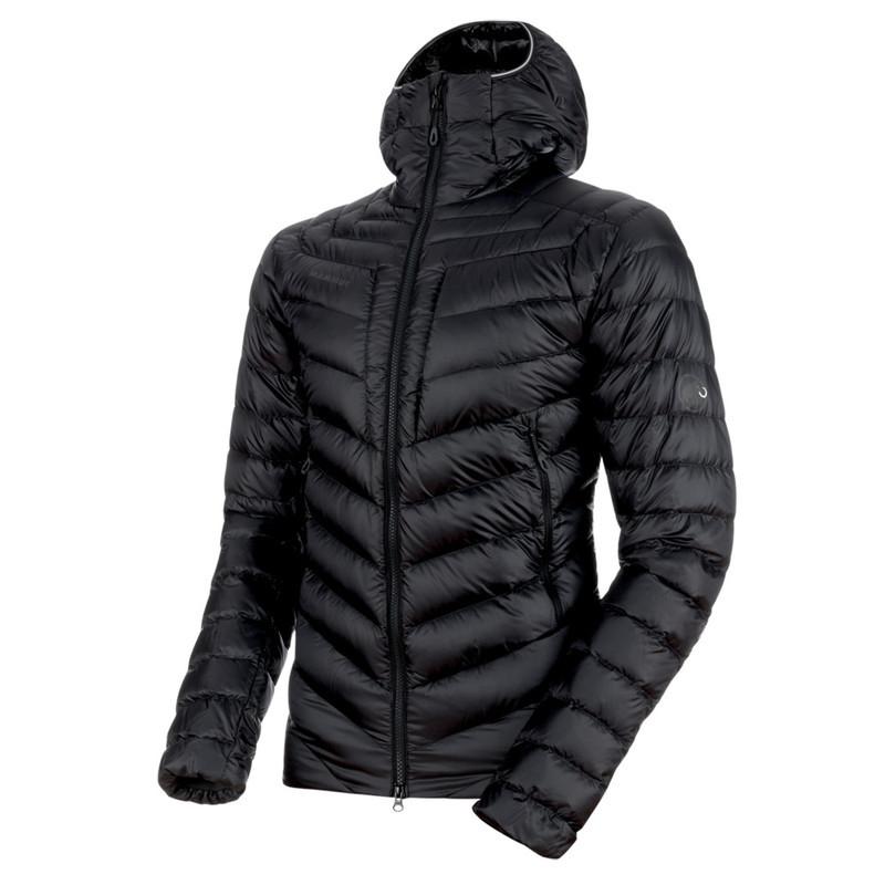 Pánska bunda Mammut Broad Peak IN Hooded Jacket Men black phantom 00189 (1013-00260) M