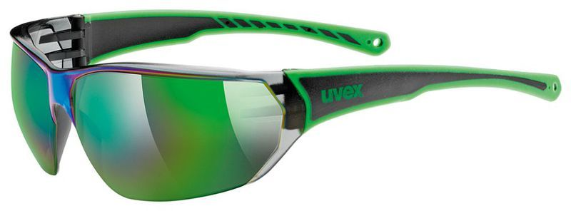 Športové okuliare Uvex Sportstyle 204 black green (7716)