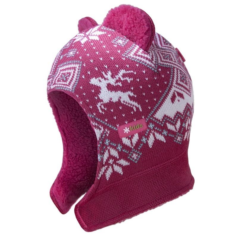 Detská pletená kukly-čiapky Kama B62 114 ružová XXS