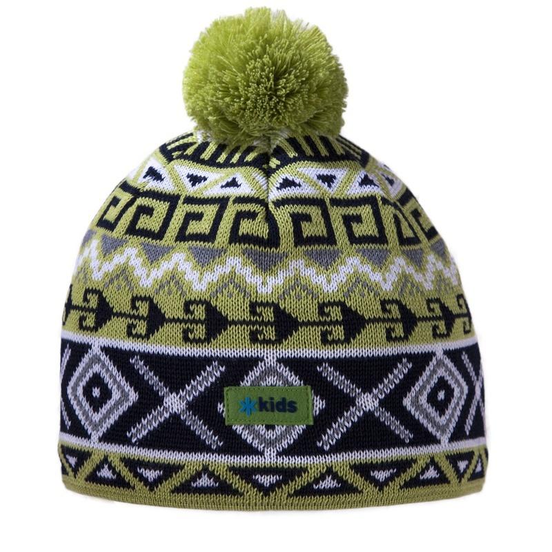 ce1ebd2b66df Detská pletená čiapka Kama B63 105 zelená