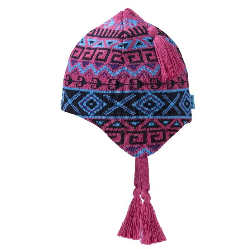 Detská pletená čiapka Kama B64 114 ružová