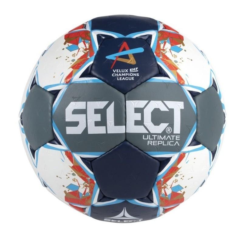 Hádzanárska lopta Select HB Ultimate Replica Champions League Men šedo modrá