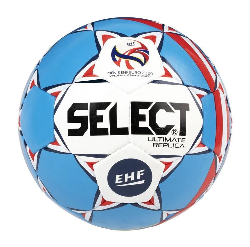 Hádzanárska lopta Select HB Ultimate EURO 2020 Replica bielo modrá