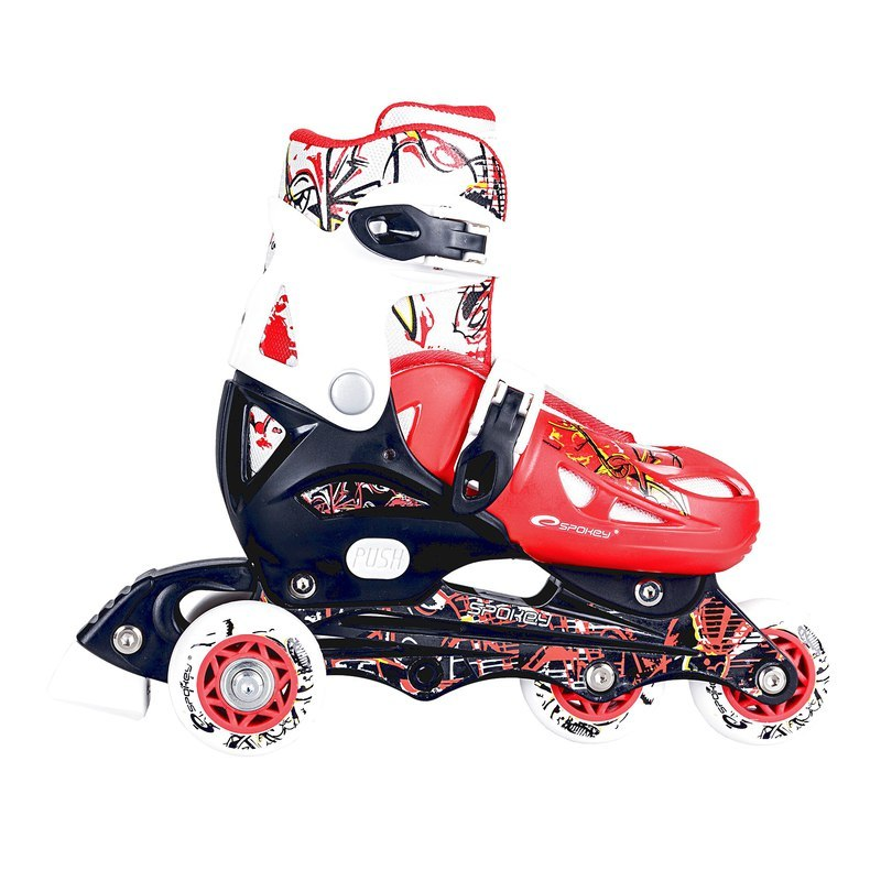 Detské kolieskové korčule Spokey Nipper červené