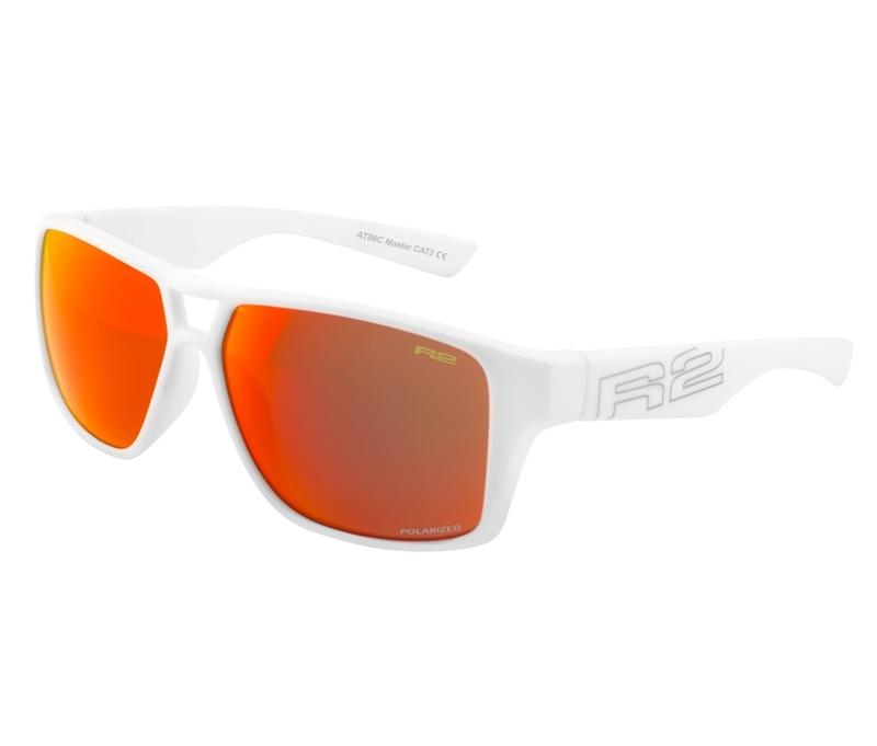 Športové slnečné okuliare R2 MASTER biele AT086C