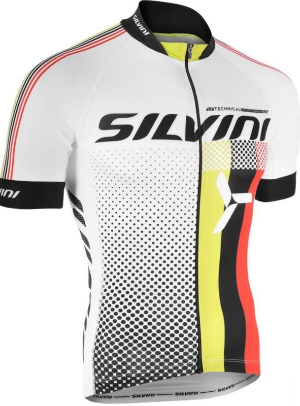 6a628269f8eb8 Pánsky cyklistický dres Silvini TEAM MD836 white