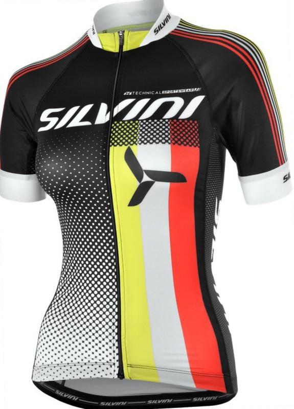 Dámsky cyklistický dres Silvini TEAM WD837 black