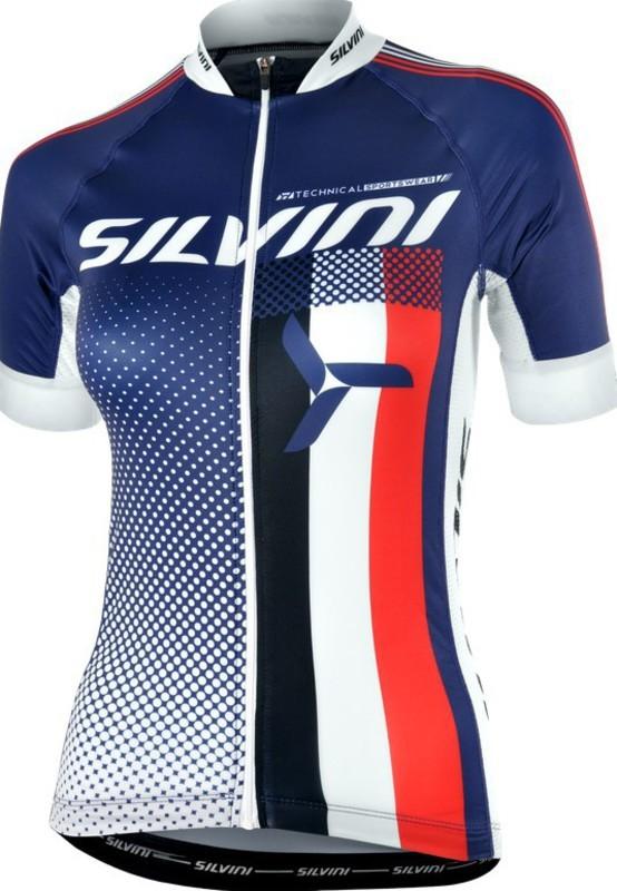 Dámsky cyklistický dres Silvini TEAM WD837 navy