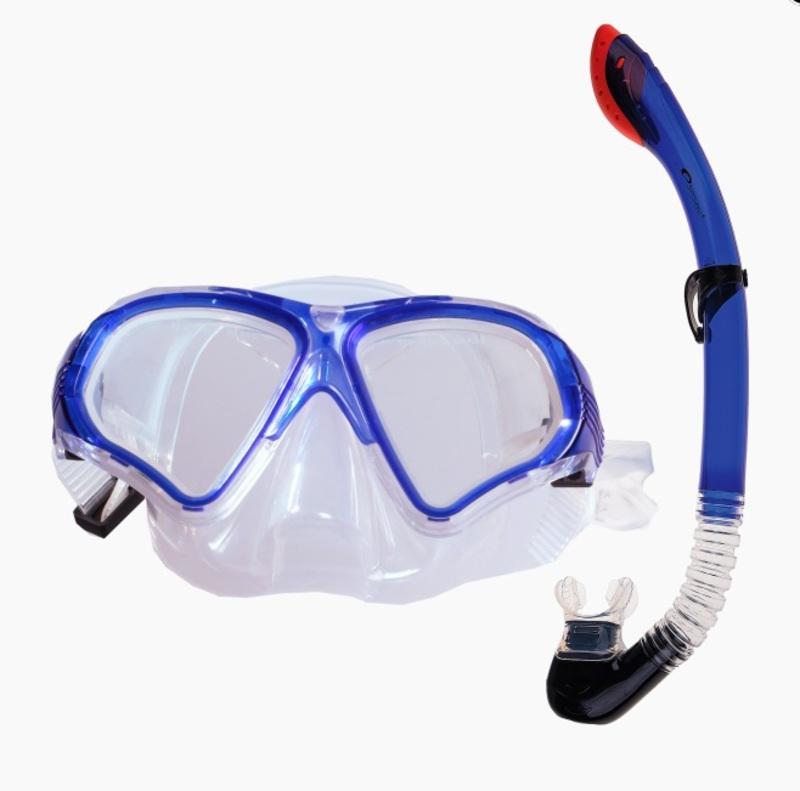 Sada Spokey TORTUGA okuliare + šnorchel modrá
