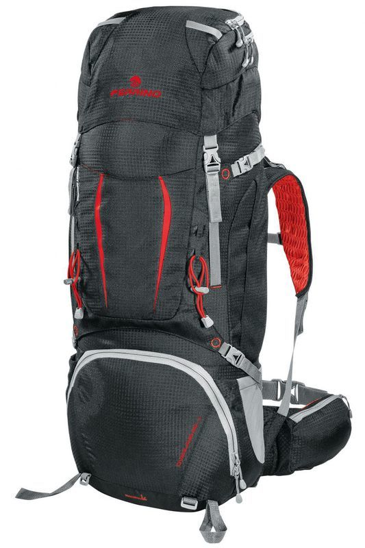Batoh Ferrino OVERLAND 50+10 black / red 75670