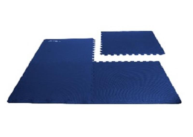Podložka puzzle pod fitness vybavenie Spokey SCRAB modrá 4 kusy 61x61 cm