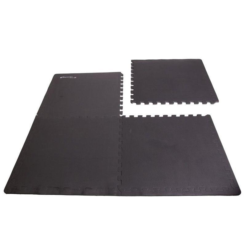 Podložka puzzle pod fitness vybavenie Spokey SCRAB čierna 4 kusy 61x61 cm