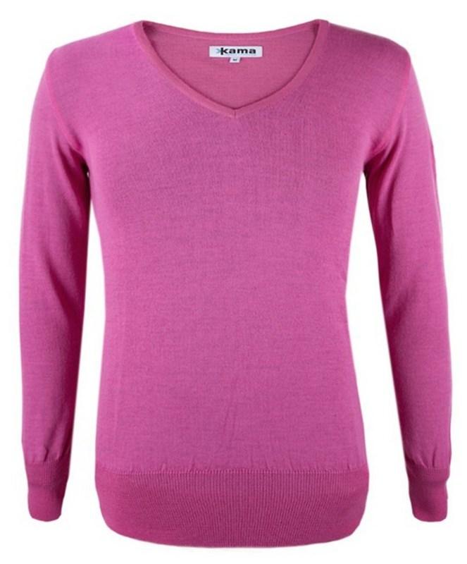 4554d826894f Dámsky sveter Kama 5101 114 ružový L