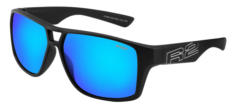 Športové slnečné okuliare R2 MASTER čierne AT086F