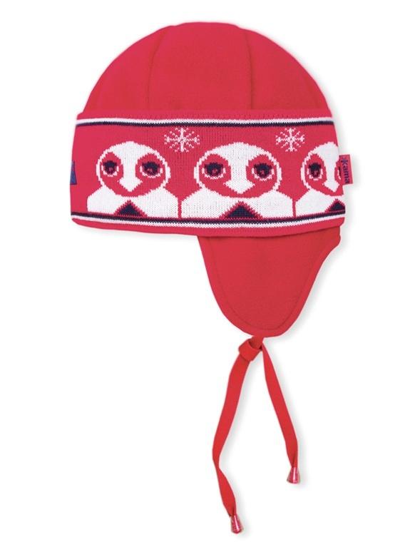 Detská pletená čiapka Kama B50 104 červená XXS