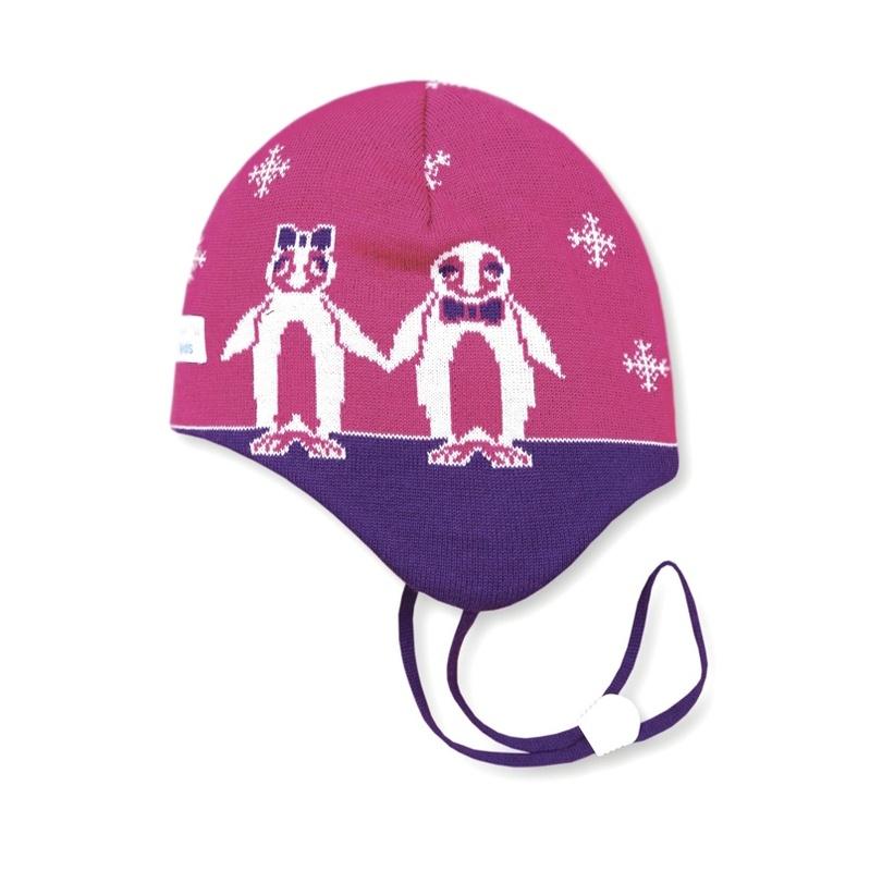 Detská pletená čiapka Kama B51 114 ružová XXS