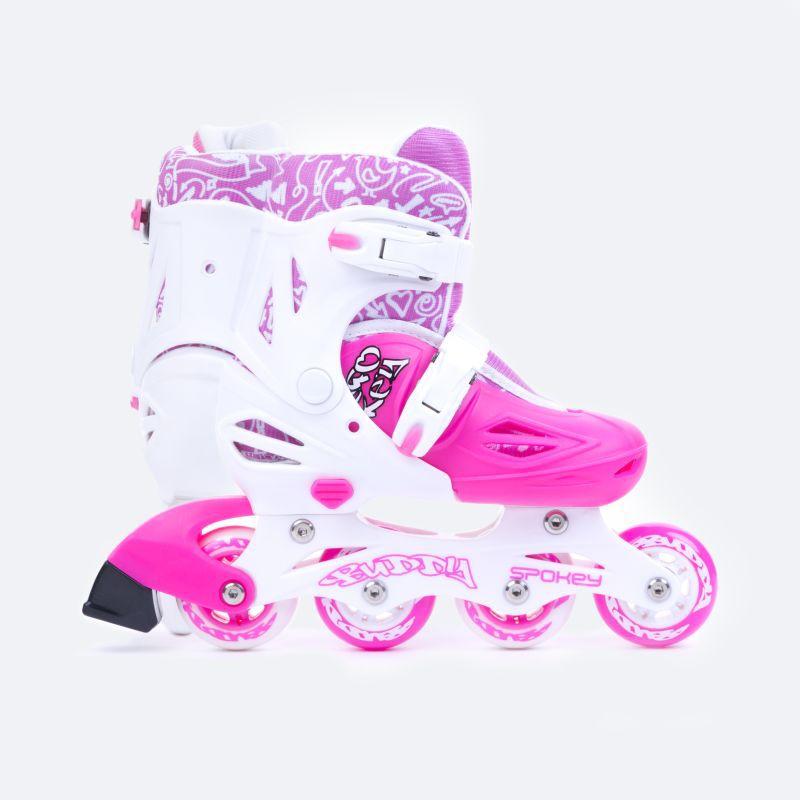 Kolieskové korčule Spokey BUDDY bielo-ružové