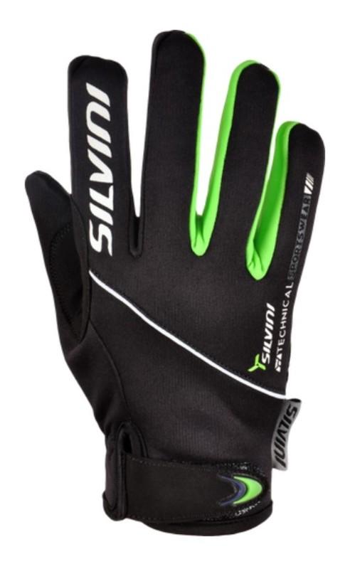 Detské rukavice Silvini Ortles CA1139 black-green 5-6