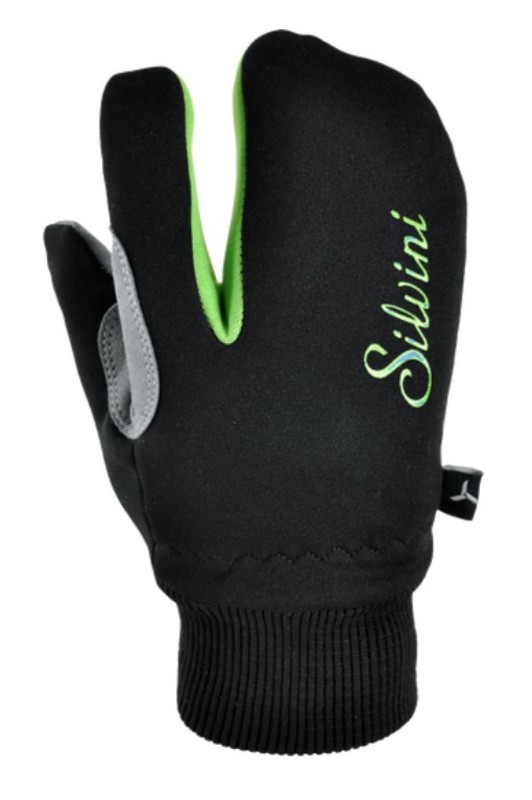 Detské rukavice Silvini TEXEL CA1140 black-green 7-8