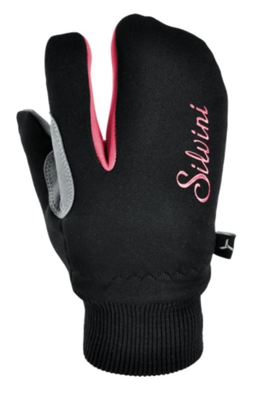 Detské rukavice Silvini TEXEL CA1140 black-punch 7-8