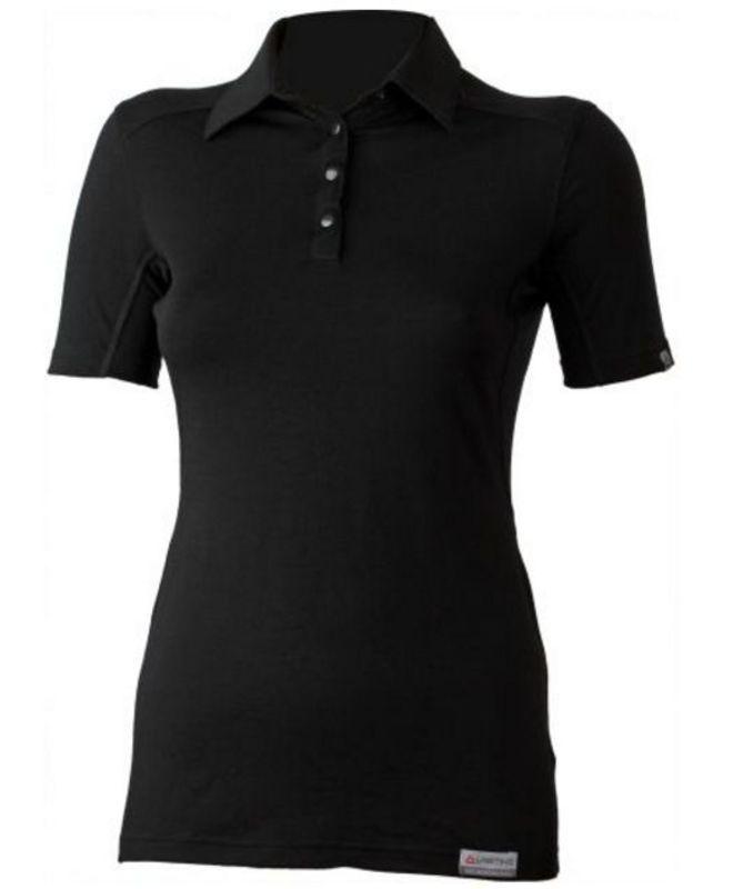 Dámske vlnené triko Lasting Alisa 9090 čierne XL