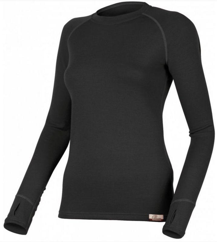 Dámske vlnené triko Lasting Lena 9090 čierna L