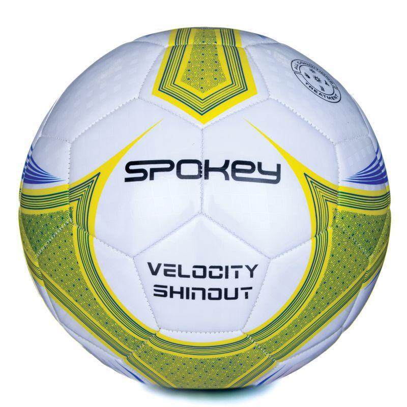 Futbalový lopta Spokey VELOCITY SHINOUT bielo-žltý č.5