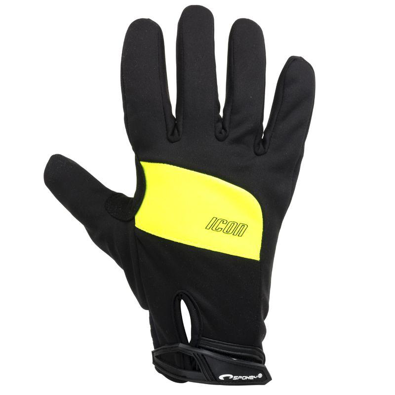Cyklistické rukavice Spokey ICON čierno-žlté XL