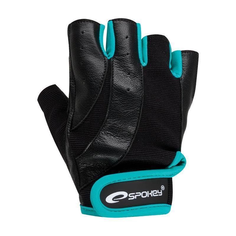 Fitness rukavice Spokey ZOE čierno-zelená