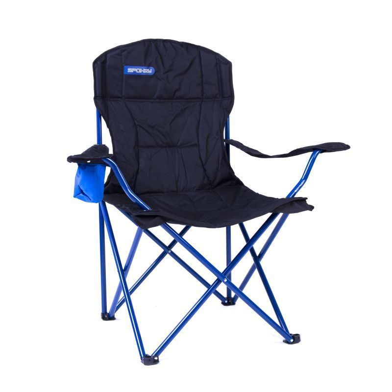 Skladacia stoličky Spokey ANGLER De lux čierna-modrá