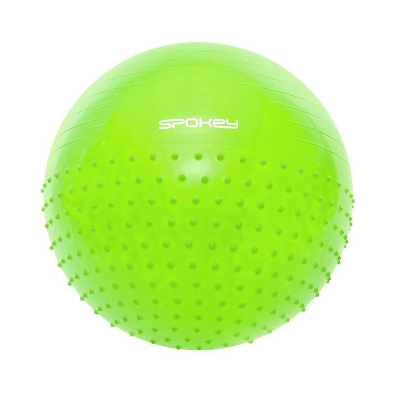 Gymnastický lopta Spokey HALF FIT 2v1 65 cm vrátane pumpičky zelený