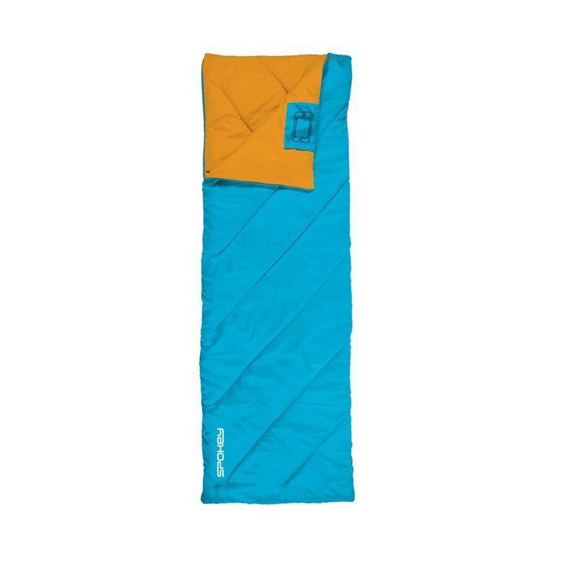 Spacie vrece Spokey PACIFIC deka, pravé zapínanie - modro-oranžový