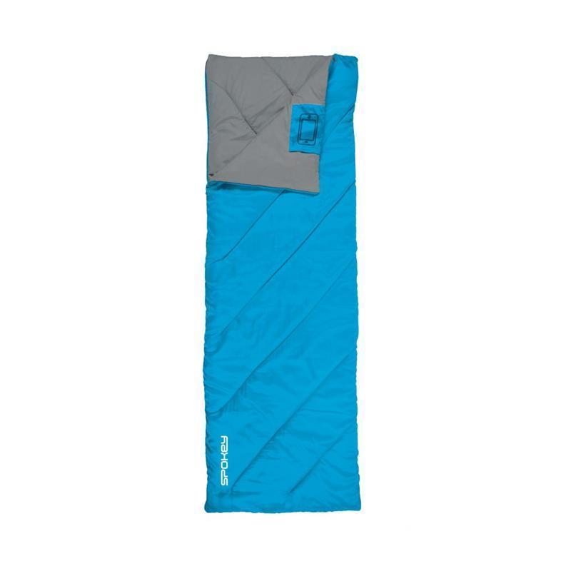 Spacie vrece Spokey PACIFIC deka, pravé zapínanie - modro-šedý