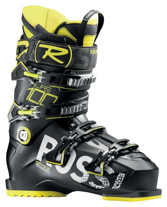 Lyžiarske topánky Rossignol Alias 100 black yellow RBF8030