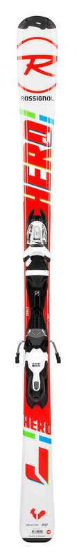 Lyže Rossignol Hero JR 130-150 Xpress (RAFJY01)+Xpress JR 7 B83 bk / wht RRF01JY