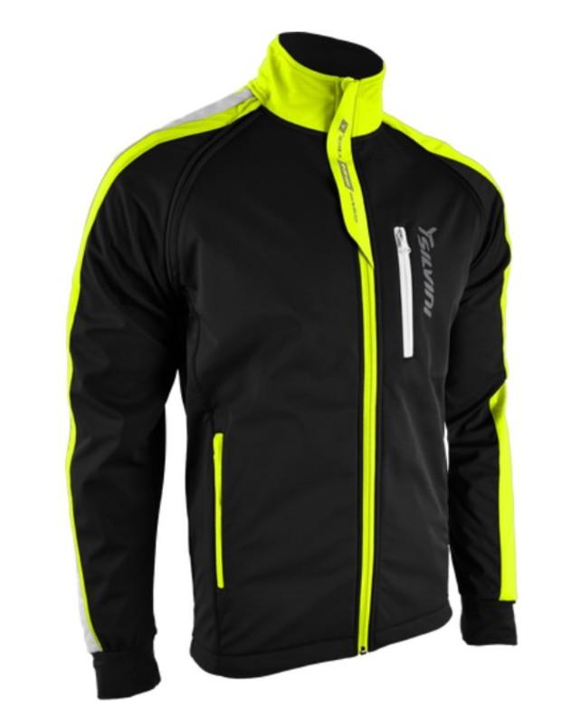 Pánska softshellová bunda Silvini Mutta MJ426 black-neon L
