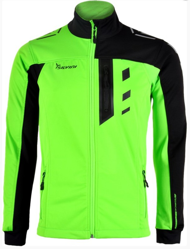 Pánska softshellová bunda Silvini CASINO MJ701 green-black XXXL