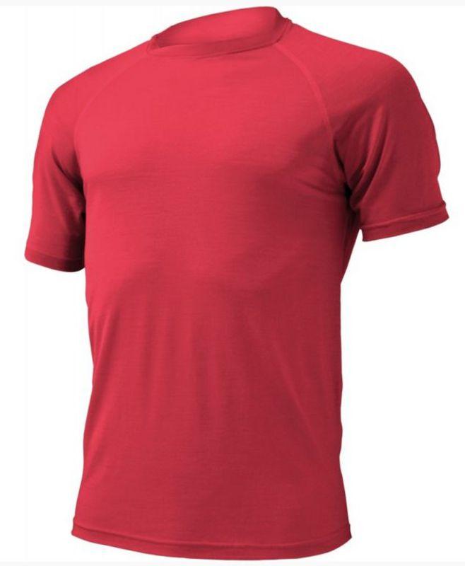 Pánske vlnené triko Lasting Quido 3636 červená S