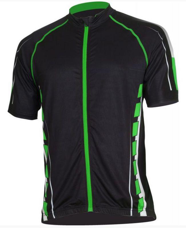 Pánsky cyklistický dres Bizioni MD62 čierna zelená