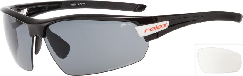 Športové slnečné okuliare Relax Imbros čierne R5387A